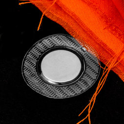 M-SEW-04, Sew-in magnets 18 x 2 mm round, with circular PVC cover