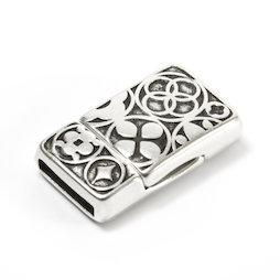 SV-K01, Jewellery clasp magnetic Celtic, for bracelets, rectangular