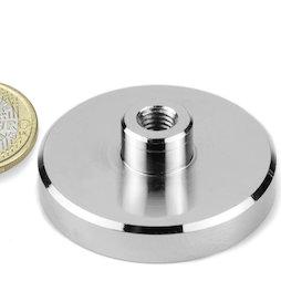 TCN-50, Pot magnet with screw socket Ø 50 mm, thread M8