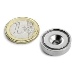 CSN-20, Countersunk pot magnet Ø 20 mm, strength approx. 9 kg