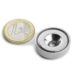 CSN-25, Countersunk pot magnet Ø 25 mm, strength approx. 19 kg