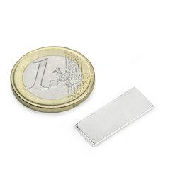 Q-22-8.5-1.4-SHN, Block magnet 22 x 8,5 x 1,4 mm, neodymium, 35SH, nickel-plated