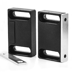 M-FURN-04, Magnetic fitting wide for furniture, metal, with counterpart
