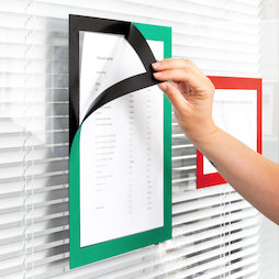 QMS-A4-STIC, Magnetic frame self-adhesive A4, to display notes, A4 format