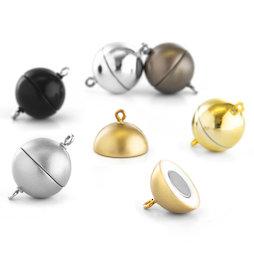SV-ES-15, Jewellery clasp magnetic round large, for necklaces / bracelets, Ø 15 mm