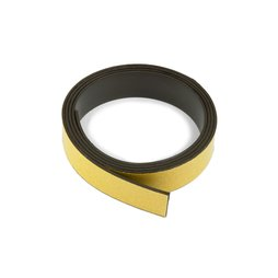 MT-20-STIC/01m, Magnetic adhesive tape ferrite 20 mm, self-adhesive magnetic tape, roll at 1 m